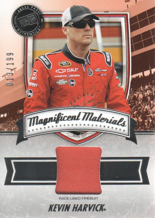2011 Press Pass FanFare Magnificent Materials #MMKH Kevin Harvick/199