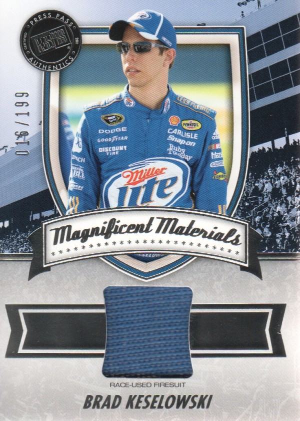 2011 Press Pass FanFare Magnificent Materials #MMBK Brad Keselowski/199