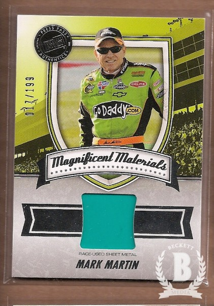 2011 Press Pass FanFare Magnificent Materials #MMMM Mark Martin/199