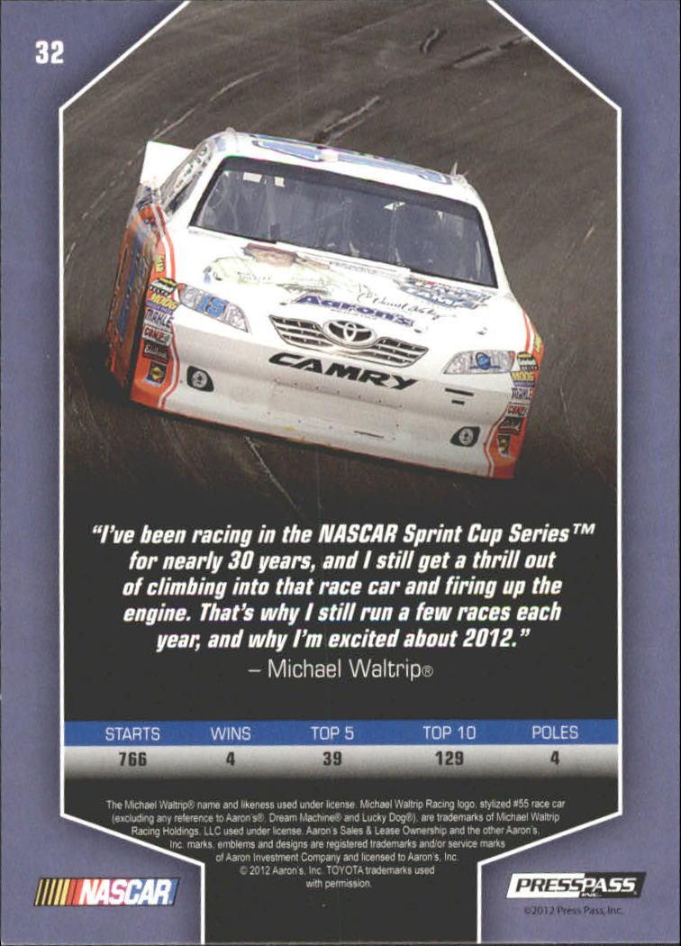 2012 Total Memorabilia #32 Michael Waltrip back image