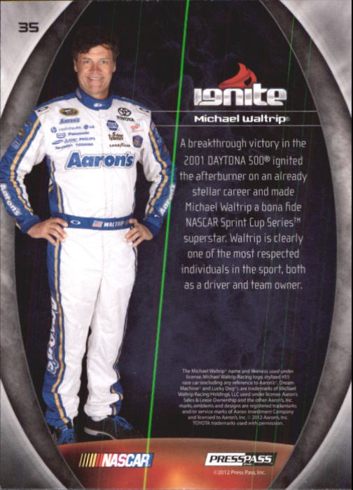 2012 Press Pass Ignite #35 Michael Waltrip back image