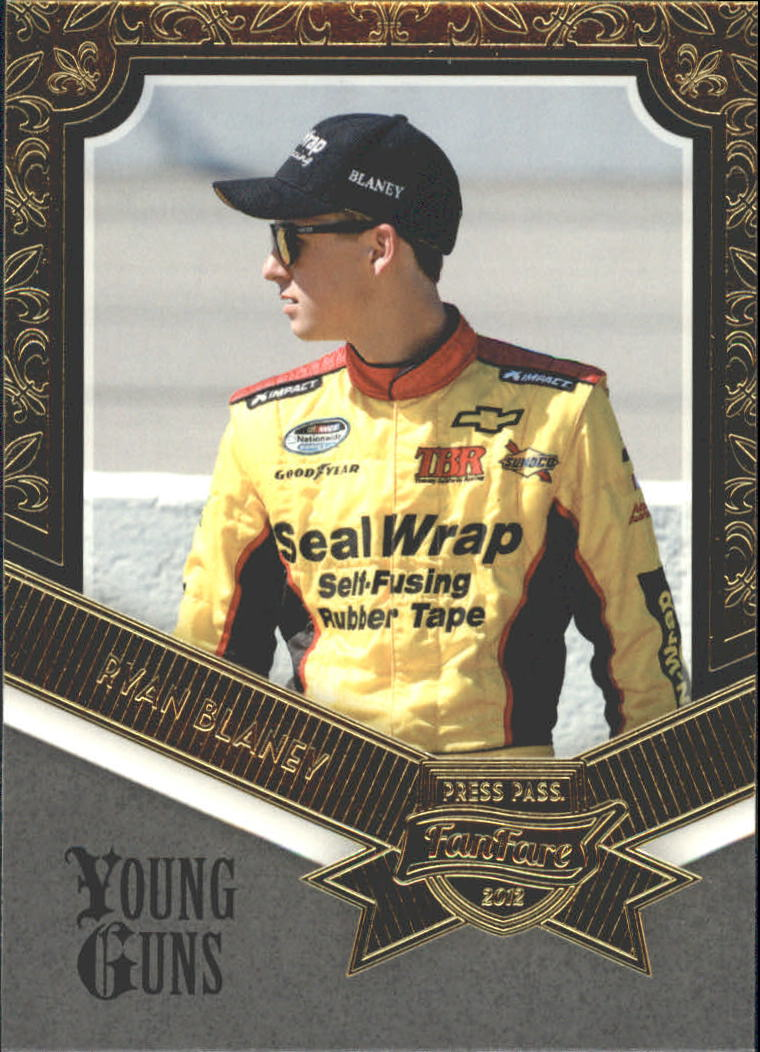 2012 Press Pass Fanfare #77 Ryan Blaney YG RC