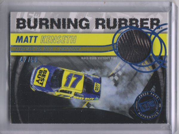 2013 Press Pass Burning Rubber Blue #BRMK Matt Kenseth's Car