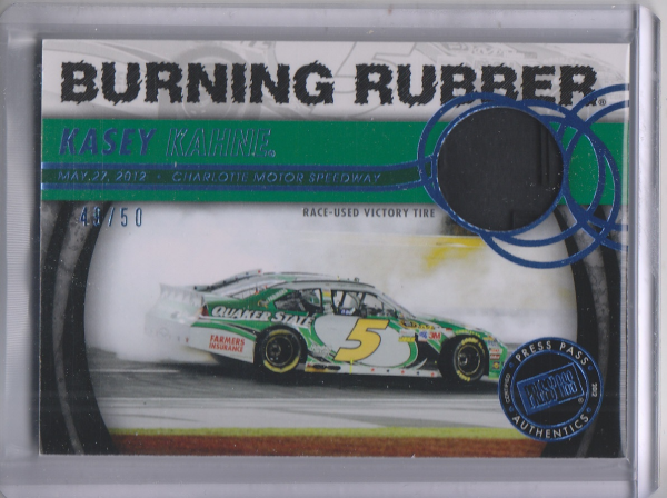 2013 Press Pass Burning Rubber Blue #BRKK Kasey Kahne's Car