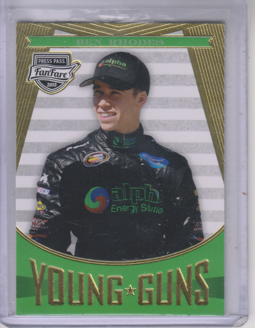 2013 Press Pass Fanfare #99 Ben Rhodes YG RC