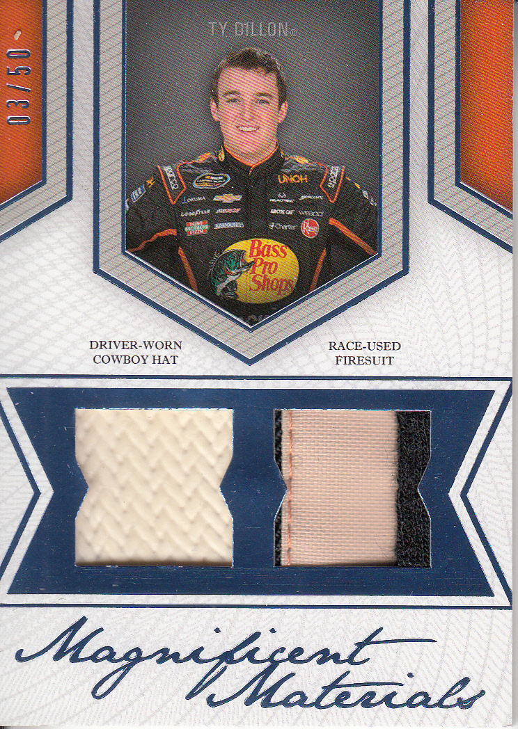 2013 Press Pass Fanfare Magnificent Materials Dual Swatches #TD Ty Dillon