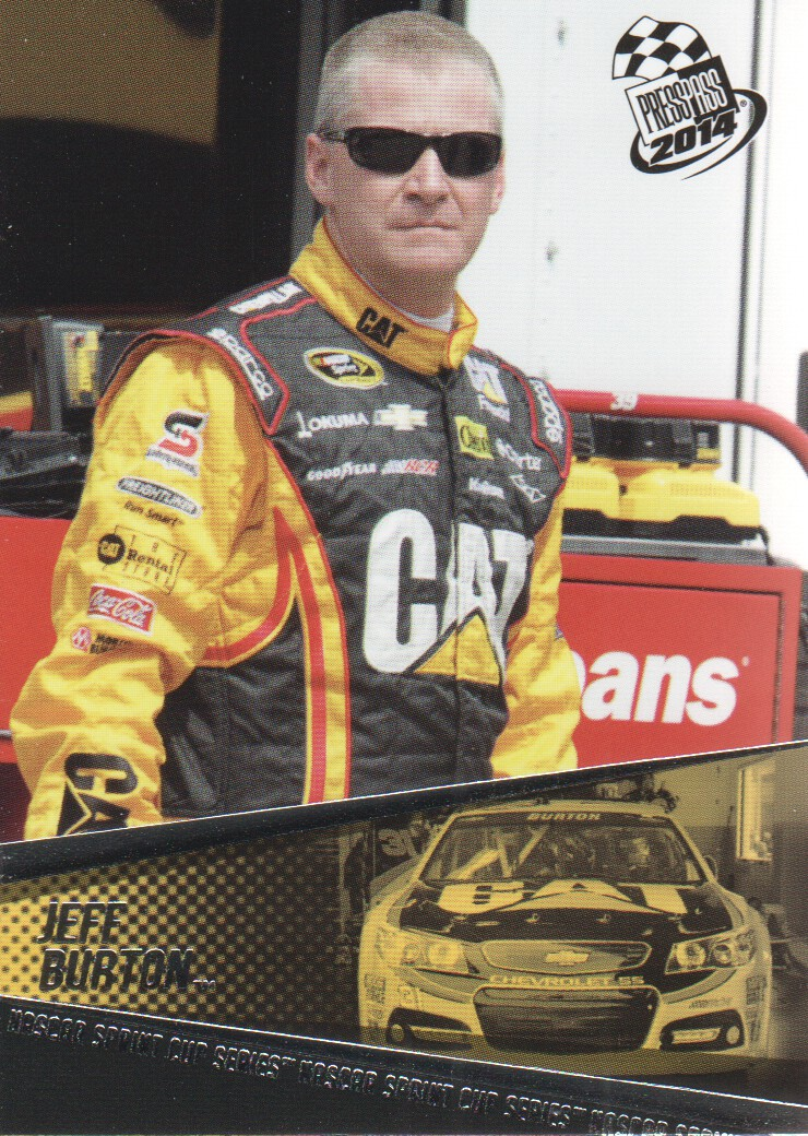 2014 Press Pass #5 Jeff Burton