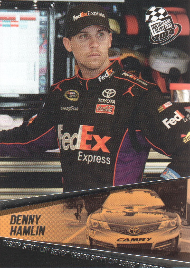 2014 Press Pass #14 Denny Hamlin