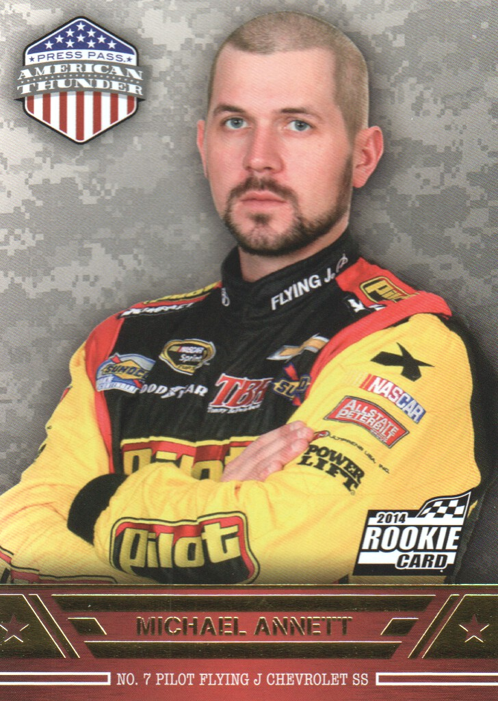 2014 Press Pass American Thunder #4 Michael Annett RC