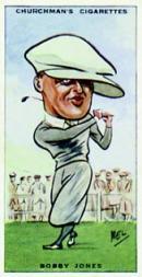 1931 Churchman's Prominent Golfers Large #5 Bobby Jones