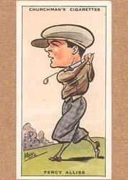 1931 Churchman's Prominent Golfers Small #1 Percy Allis