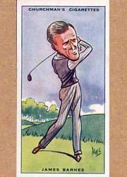 1931 Churchman's Prominent Golfers Small #2 James Barnes