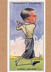 1931 Churchman's Prominent Golfers Small #3 Aubrey Boomer