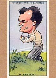 1931 Churchman's Prominent Golfers Small #6 W. Campbell