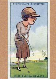 1931 Churchman's Prominent Golfers Small #7 Glenna Collett