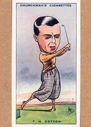 1931 Churchman's Prominent Golfers Small #9 Henry Cotton