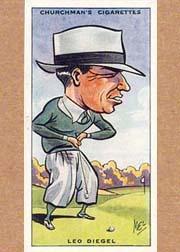 1931 Churchman's Prominent Golfers Small #10 Leo Diegel