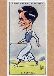 1931 Churchman's Prominent Golfers Small #13 Johnny Farrell