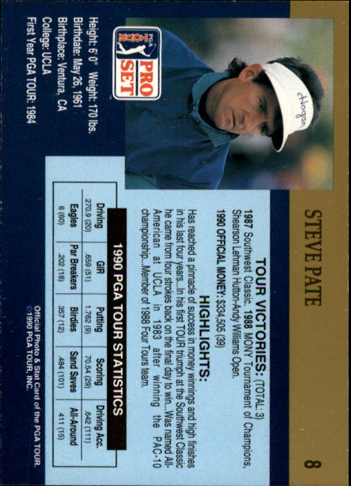 1990 Pro Set #8 Scott Simpson back image