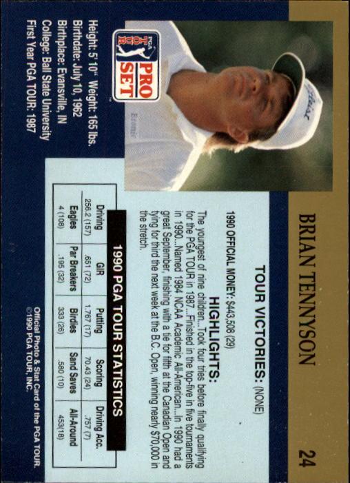 1990 Pro Set #24 Brian Tennyson RC back image