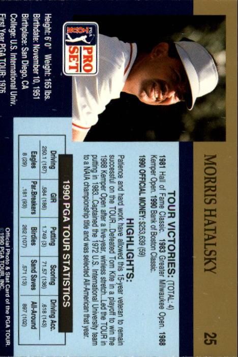 1990 Pro Set #25 Morris Hatalsky RC back image