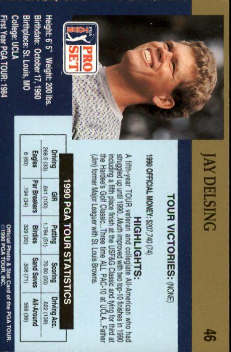 1990 Pro Set #46 Jay Delsing RC back image