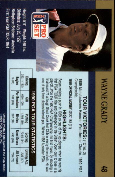 1990 Pro Set #48 Wayne Grady RC back image