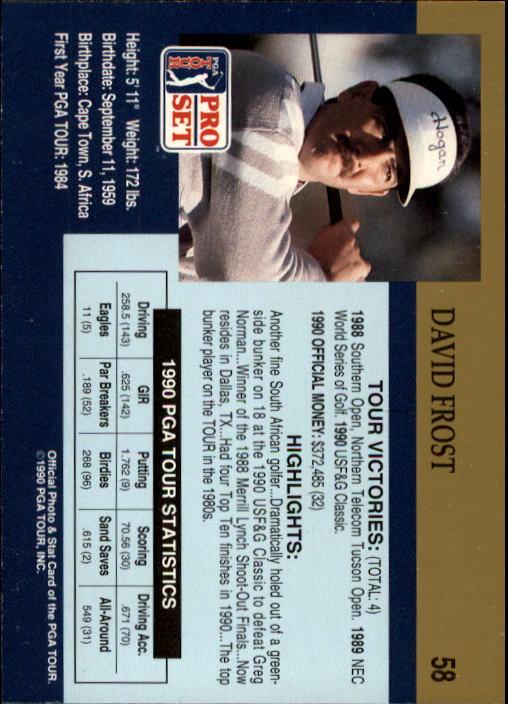 1990 Pro Set #58 David Frost RC back image