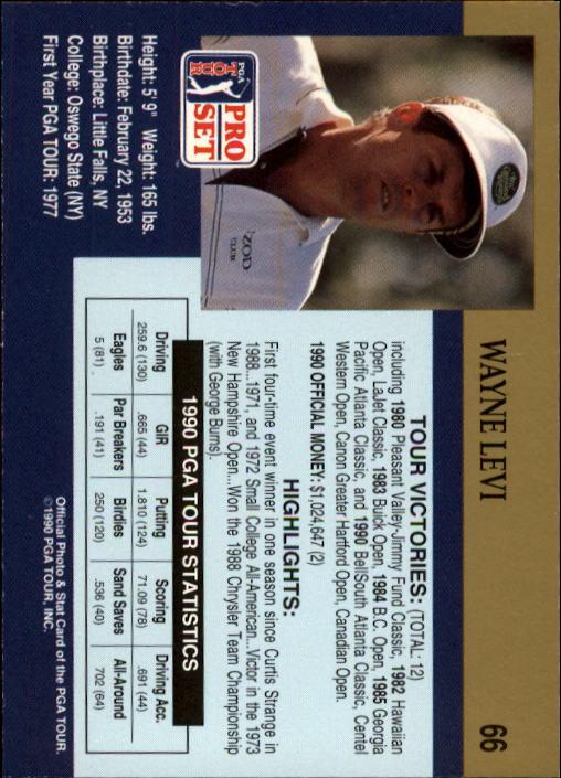 1990 Pro Set #66 Wayne Levi back image