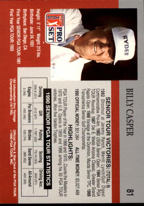 1990 Pro Set #81 Billy Casper RC back image