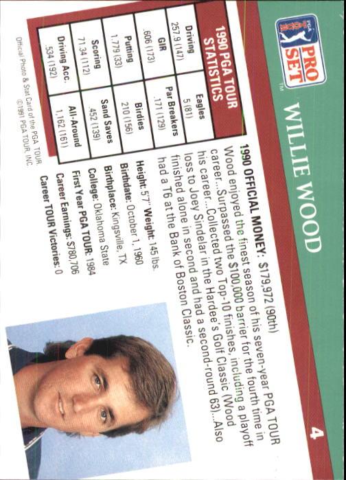 1991 Pro Set #4 Willie Wood RC back image