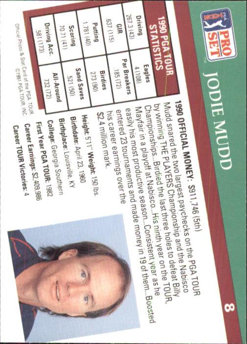 1991 Pro Set #8 Jodie Mudd back image