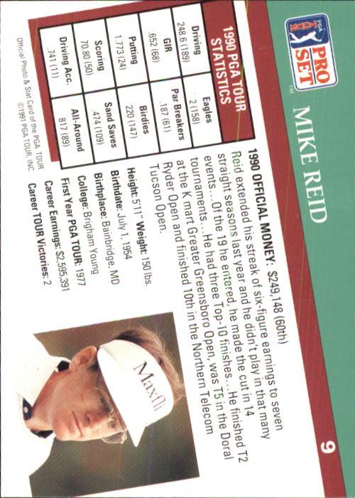 1991 Pro Set #9 Mike Reid back image