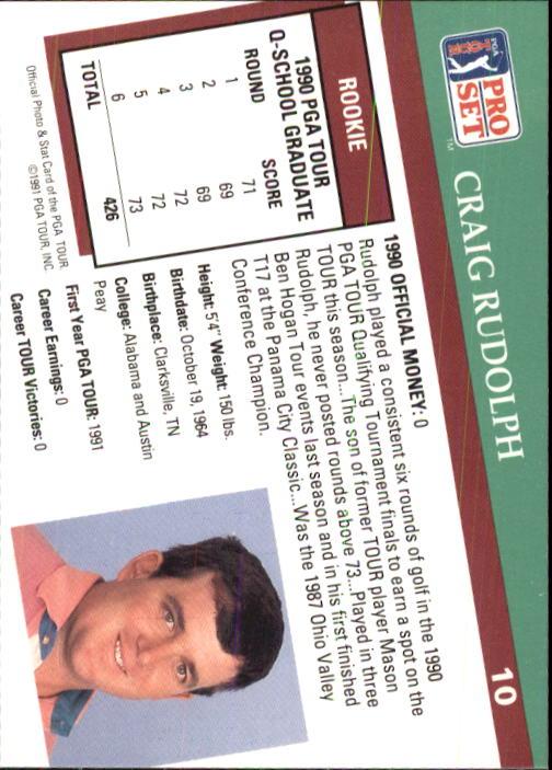 1991 Pro Set #10 Craig Rudolph RC back image