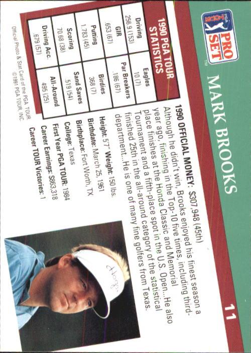 1991 Pro Set #11 Mark Brooks back image