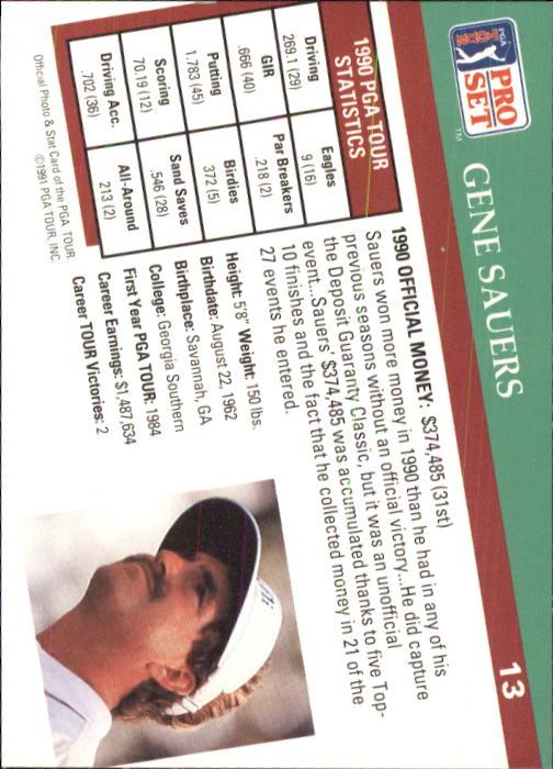 1991 Pro Set #13 Gene Sauers back image
