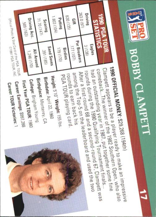1991 Pro Set #17 Bobby Clampett back image