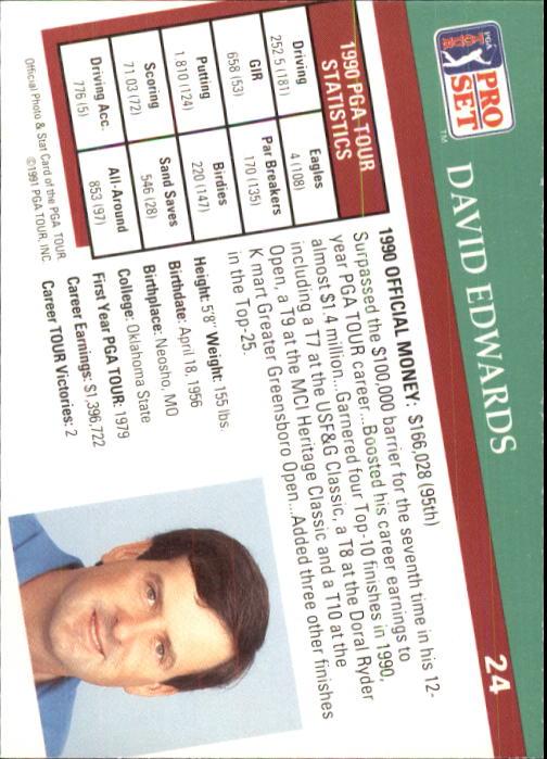 1991 Pro Set #24 David Edwards RC back image