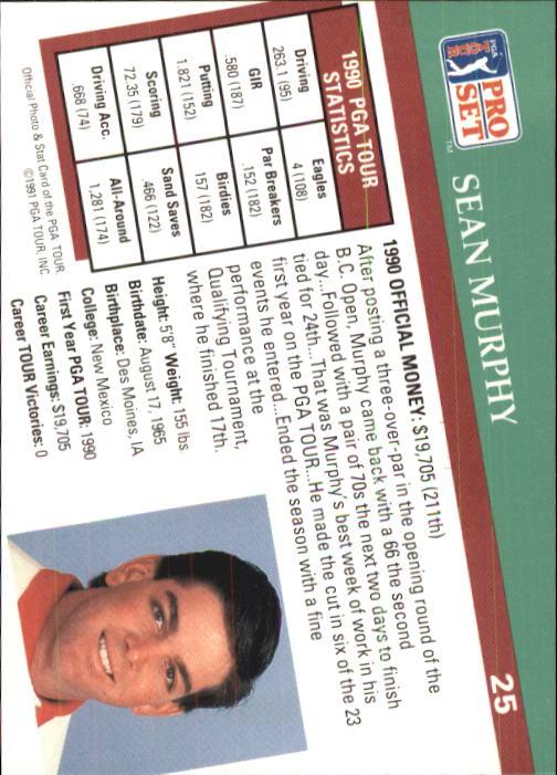 1991 Pro Set #25 Sean Murphy RC back image