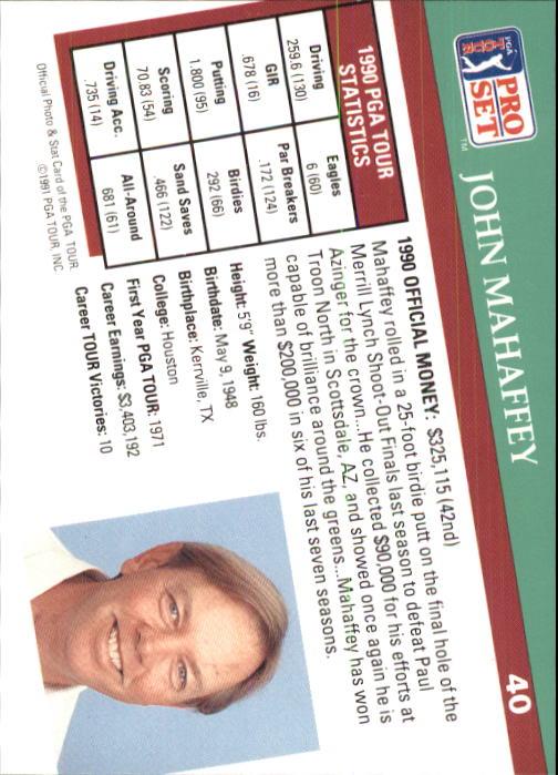 1991 Pro Set #40 John Mahaffey back image