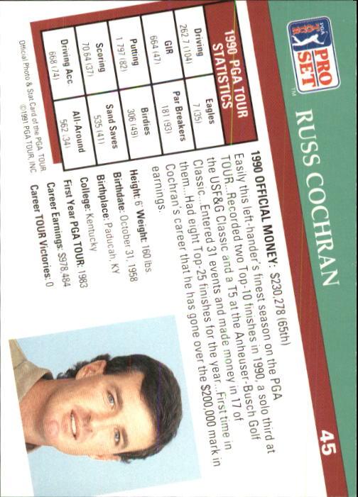 1991 Pro Set #45 Russ Cochran back image
