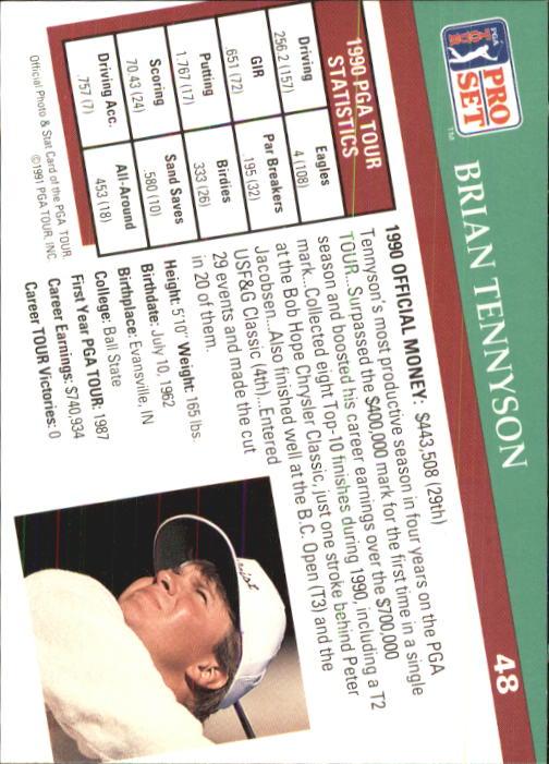 1991 Pro Set #48 Brian Tennyson back image