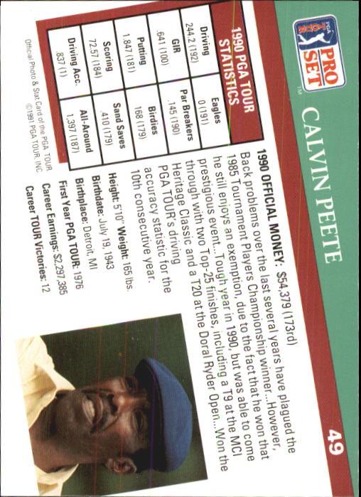 1991 Pro Set #49 Calvin Peete back image