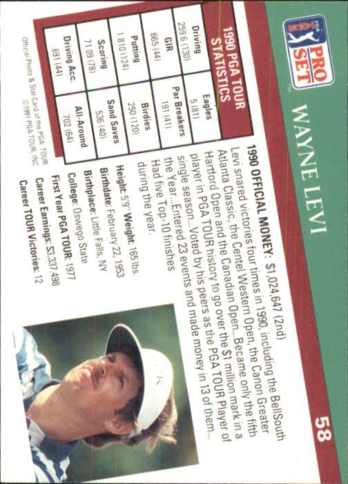 1991 Pro Set #58 Wayne Levi back image