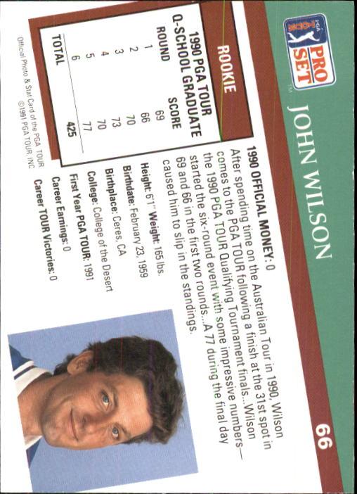 1991 Pro Set #66 John Wilson RC back image