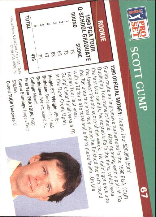 1991 Pro Set #67 Scott Gump RC back image