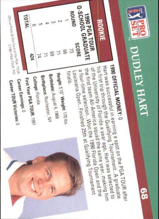 1991 Pro Set #68 Dudley Hart RC back image