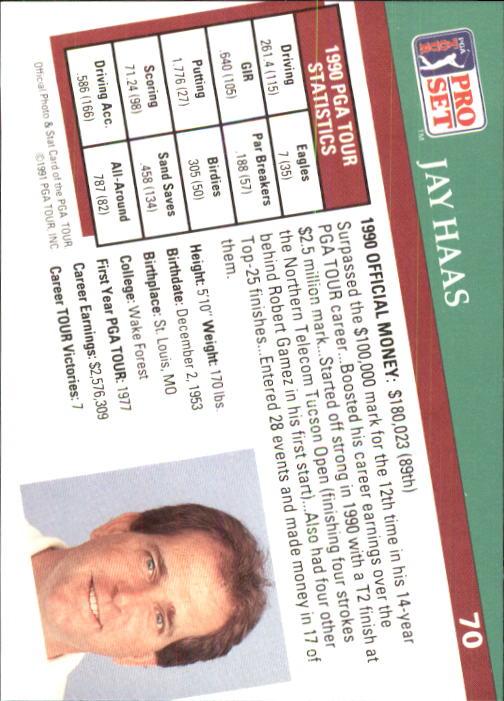 1991 Pro Set #70 Jay Haas back image