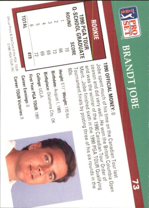 1991 Pro Set #73 Brandt Jobe RC back image