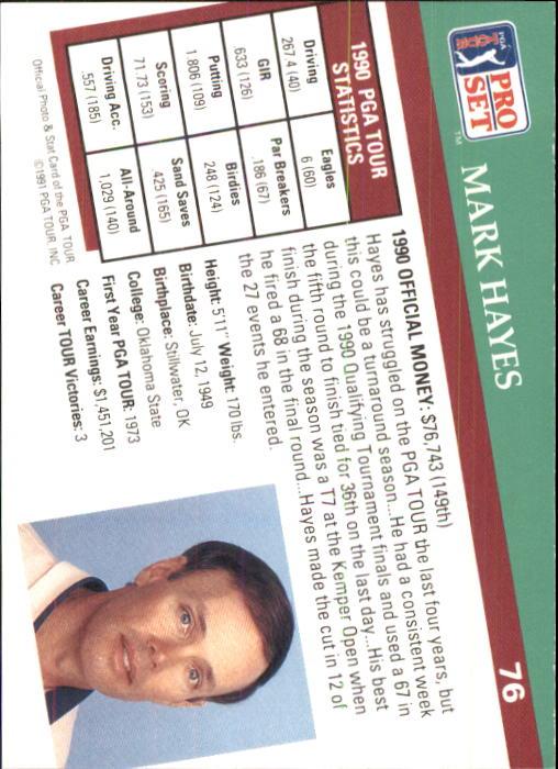 1991 Pro Set #76 Mark Hayes back image